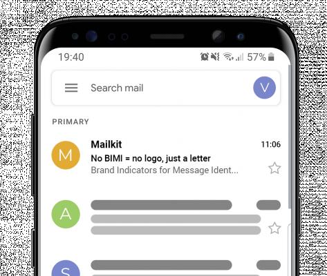 Zobrazení BIMI loga na mobilu